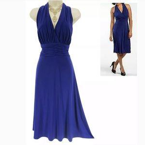 14 Large XL▪️SEXY BLUE RUCHED WAIST MARILYN DRESS